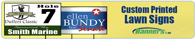 Custom Lawn Signs - Single Sided or Double Sided